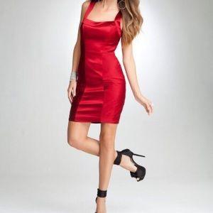 NWT bebe Speakeasy red satin cocktail dress medium